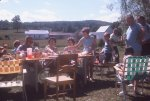 Backyard Picnic with the Curtis and Shaffer Family at Hayes in 1970's