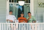 Matt, Russ and Travis hanging out on the porch