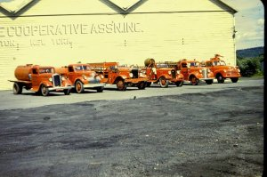 GB collection - MU Borden Hose Company Firetruck fleet. 1950's